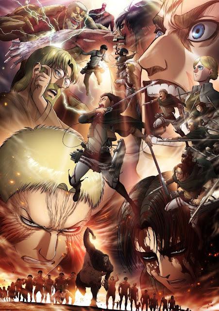 """Nueva imagen promocional de la tercera temporada de """"Ataque a los Titanes"""" (Shingeki no Kyojin 進撃の巨人), que regresará el 28 de abril."""
