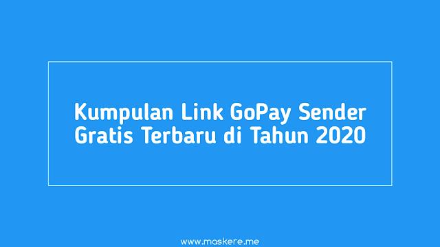 Rekomendasi Kumpulan Link GoPay Sender
