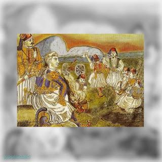 Πίνακας Θεόφιλου, Θ. Κολοκοτρώνης (ομιλία στην Πνύκα)