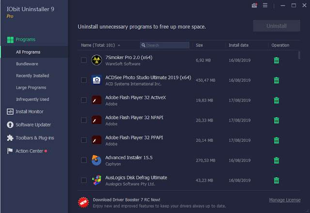 Screenshot IObit Uninstaller Pro 9.1.0.8 Full Version
