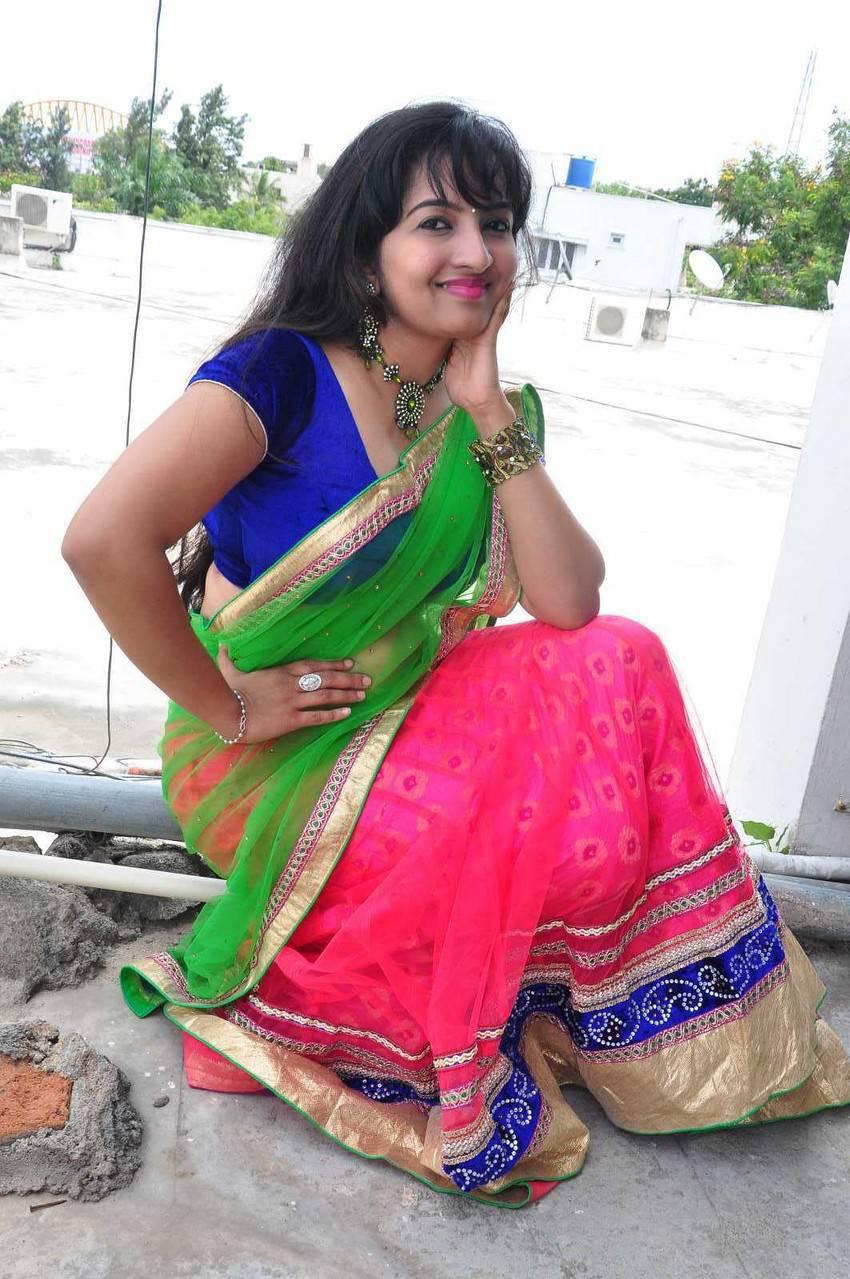 South Indian B-Grade Actress Roshini Half Saree Photos -6920