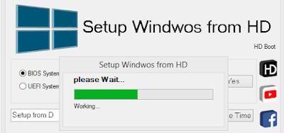 تنصيب ويندوز 7 من الهارد بدون فلاش أو Dvd