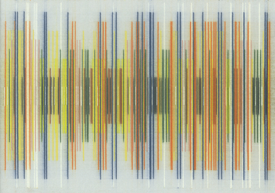 Johan de Wilde History 377 - Le grand départ, 2019 Colour pencil on archival cardboard 29.7 x 21 cm