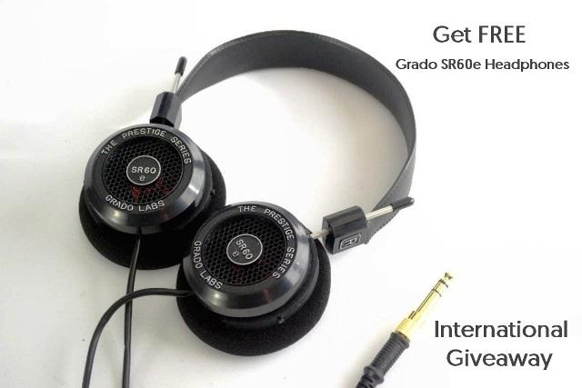 Free Giveaway Grado SR60e Headphones
