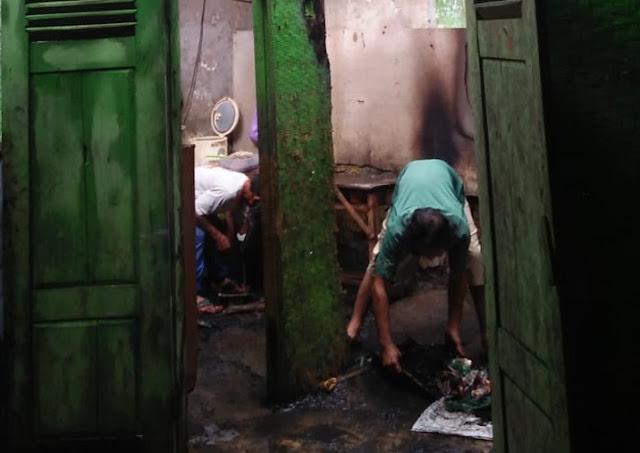 Diduga Lalai Tinggalkan Kompor Menyala, Rumah Warga Karangmoncol Terbakar