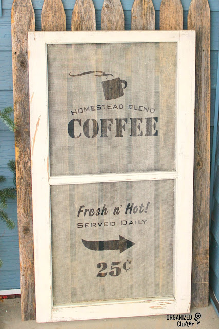 "Old Sign Stencils ""Coffee"" Window Screen #windowscreen #oldsignstencils #stencil #coffee"