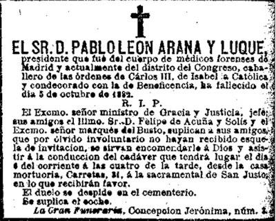 La Correspondencia de España, Madrid,  6/10/1882