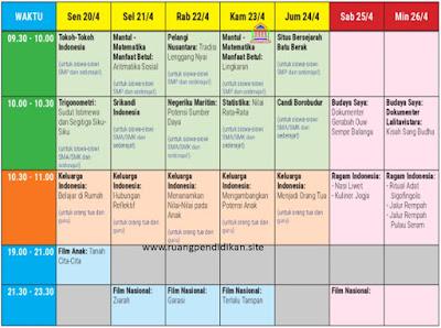 jadwal belajar minggu ke 2