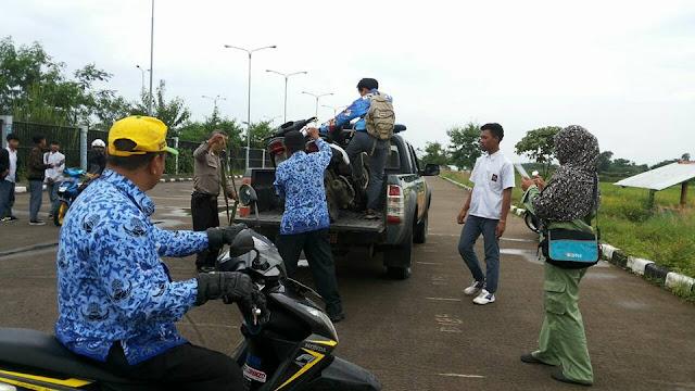 Polsek Gedebage dan Linmas Rancanumpang Razia Balap Liar di Area Stadion GBLA