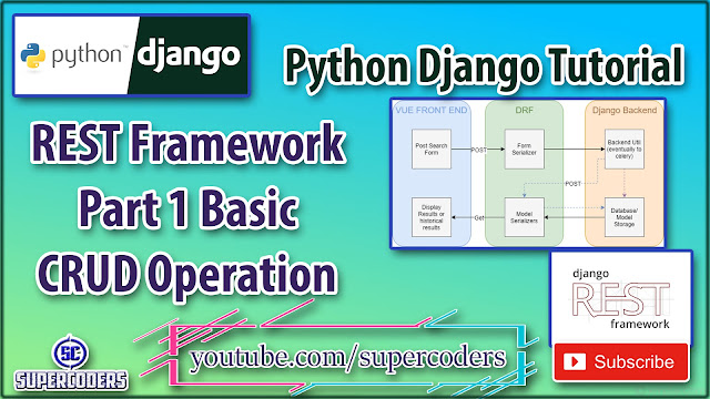 Python Django Rest Framework Tutorial Part 1 [ Django DRF Basic CRUD ]