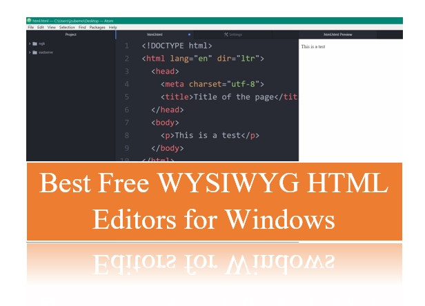 best free wysiwyg html code editors