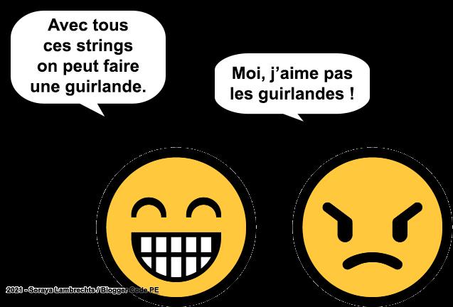Blogger Humour - Guirlande de strings.