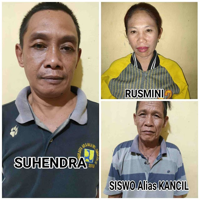 Grebek Lokasi Judi 3 Pemain Diamankan Polsek Tanjung Beringin