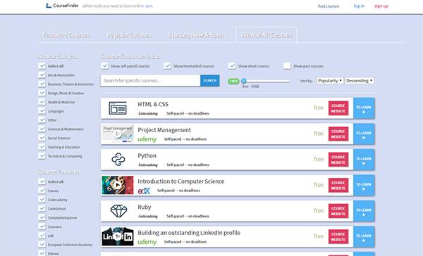 ـ  موقع بمثابة كنز للبحث عن كل الدورات (المجانية) حسب اللغة ، التخصص ..في جميع المواقع على شبكة الان 23.png