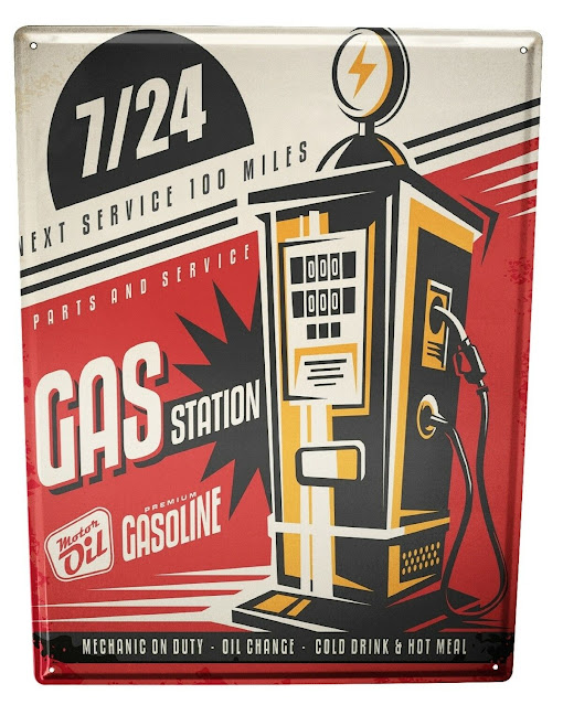 Metal Plate - American Gas Pump