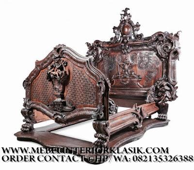 Furniture klasik jakarta,Mebel tempat tidur jati ukiran jepara desain eropa Classic Mewah.code AA102
