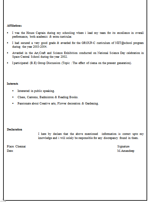 Free Download Resume Format For Mechanical Engineers. download ...