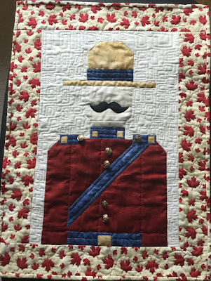 Completed Sergeant Sesquicentennial  block from Quilting Pleasures