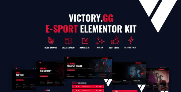 Best Esports and Gaming Elementor Template Kit