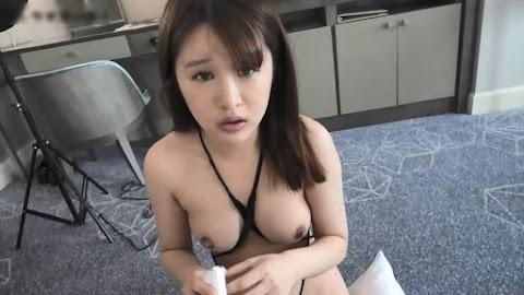POV Japanese Rika Deep Blowjob and Cum Swallow