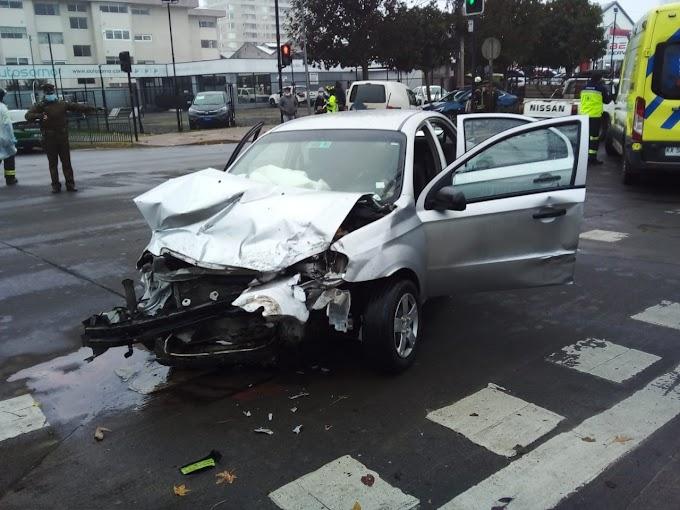 Violento accidente en pleno centro de Osorno