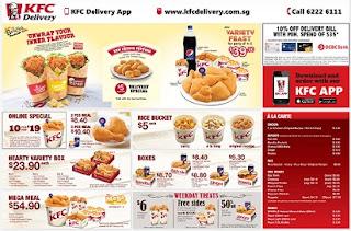 Daftar Harga Menu, Menu KFC Indonesia, Paket KFC Layanan Drive-Thru,