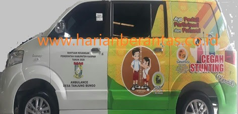 Dana Pengadaan Ambulance Desa Sebesar Rp16,250 M Diduga di Mark-Up
