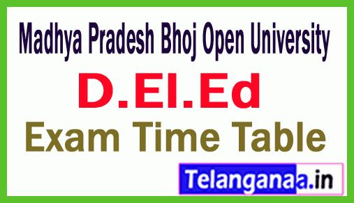 Madhya Pradesh Bhoj Open University DEl Ed  Exam Time Table