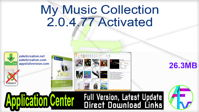 My Music Collection 2.0.4.77 Activated