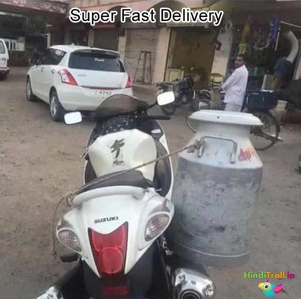 Super Fast Delivery Funny Picture| Indian Troll Picture| Indian Funny Photo