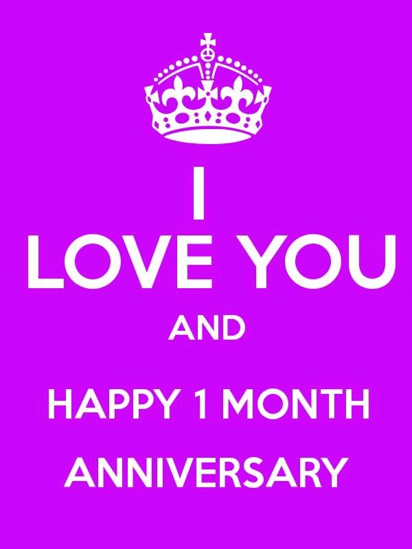 month anniversary wishes love