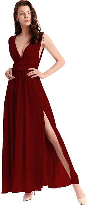 Cute Red Chiffon Bridesmaid Dresses