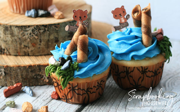 BEAVER-THEMED 8th BIRTHDAY PARTY CUPCAKES