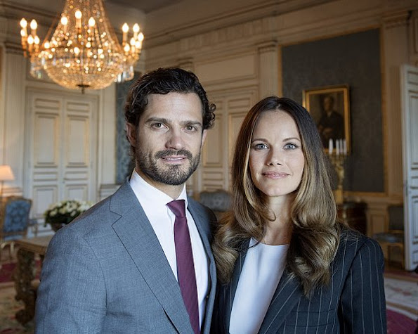 Princess Sofia Hellqvist and Prince Carl Philip at a symposium at Stockholm Royal Palace. Sofia Hellqvist Style, Sofia Hellqvist wore Hugo Boss pantsuit