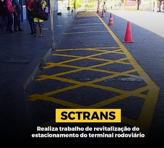 SCTRANS  continua com os trabalhos de revitalização das sinalizações verticais e horizontais em Cajazeiras