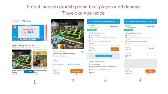 Empat langkah mudah pesan tiket playground dengan Traveloka Xperience
