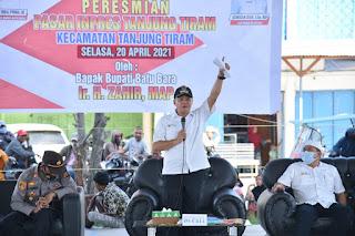 Bupati Batu Bara Resmikan Gedung Baru Pasar Inpres Tanjung Tiram