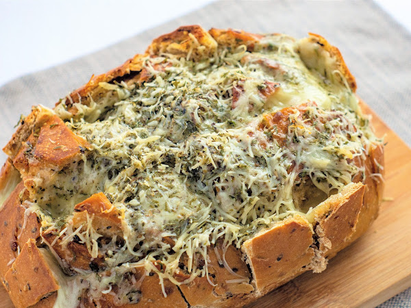 Pull Apart Cheesy Bread