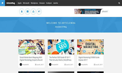 Article mag blogger template free responsive 2018