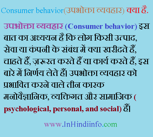 Consumer Behaviour in Hindi