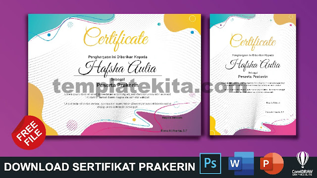 Download Contoh Sertifikat Prakerin Gratis Berbagai Format Part 2