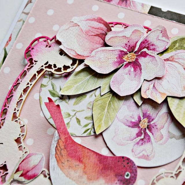 wiosenne kwiaty na karteczce