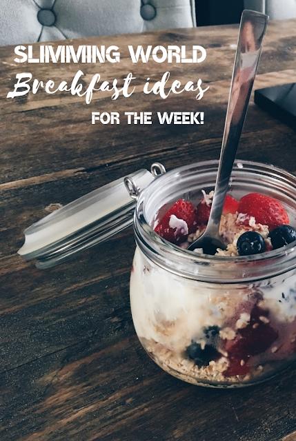 Slimming World - Breakfast ideas for the week