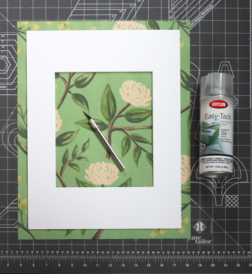 How to make a decorative picture mat   How About Orange