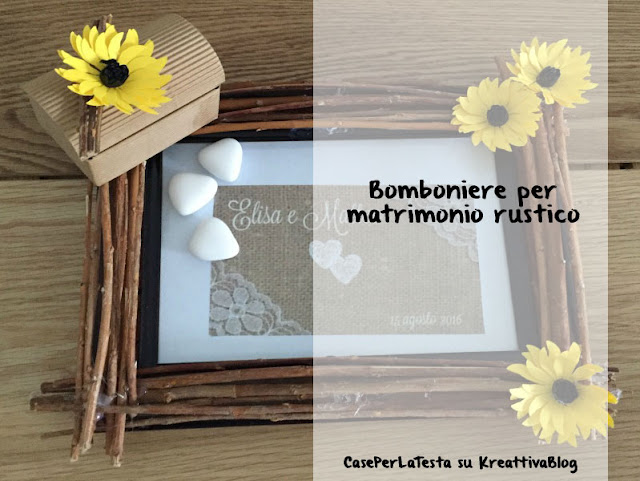 Bomboniere per matrimonio country chic