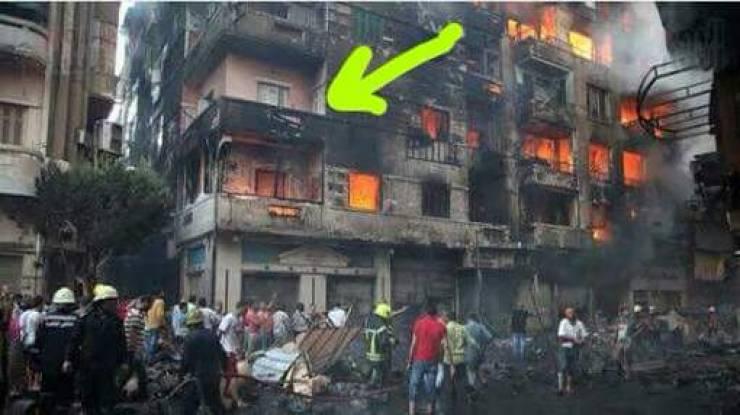 تعرف على سر الشقة الوحيدة التي نجت من حريق الرويعي في مصر! اغرب من الخيال...