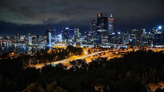 Wallpaper Metropolis, Twilight, City Landscape