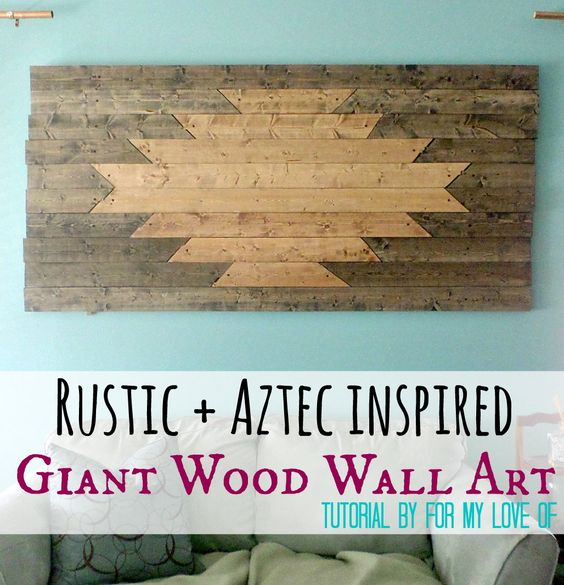 Brand New Parents and Homeowners Created This Rustic Southwestern Design Inspired Wall Art - Created By TheBohoAbode