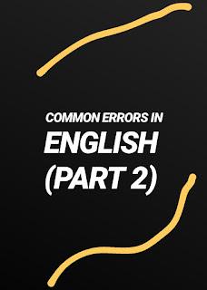 Common Errors in English, English grammar, english is easy with rb, rajdeep banerjee