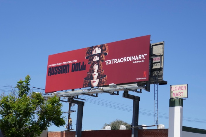 Russian Doll season 1 Emmy FYC billboard